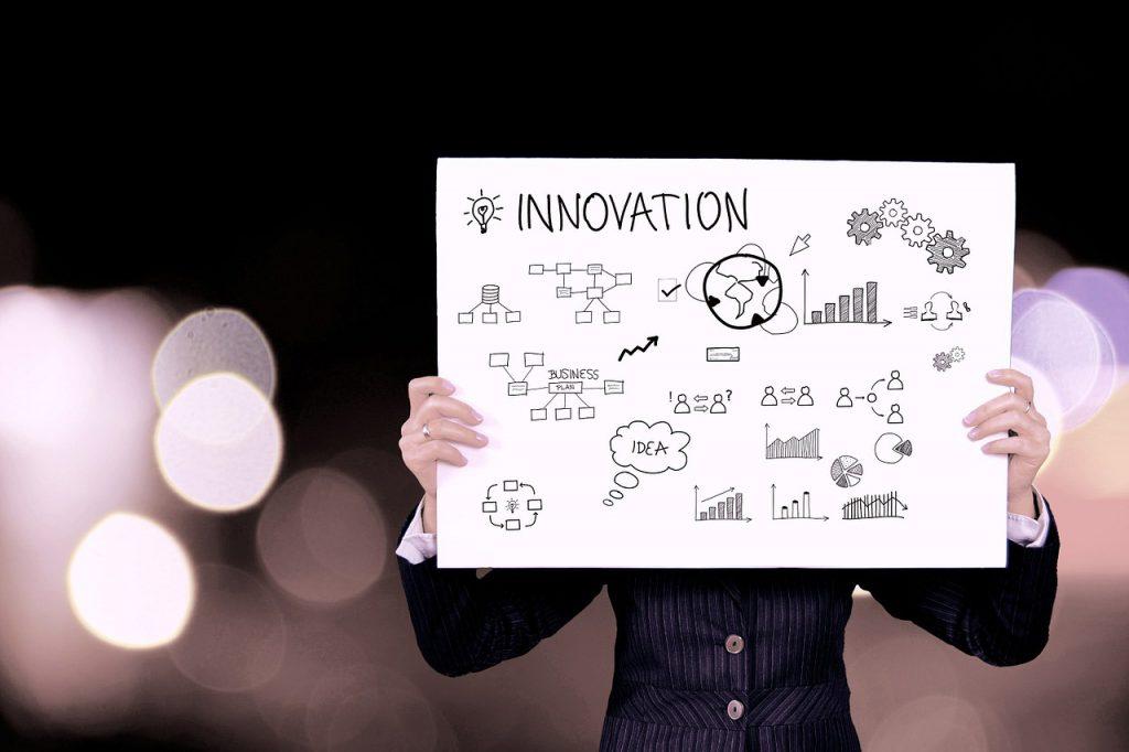 schema che rappresenta le caratteristiche dell'innovazione con grafici e disegni