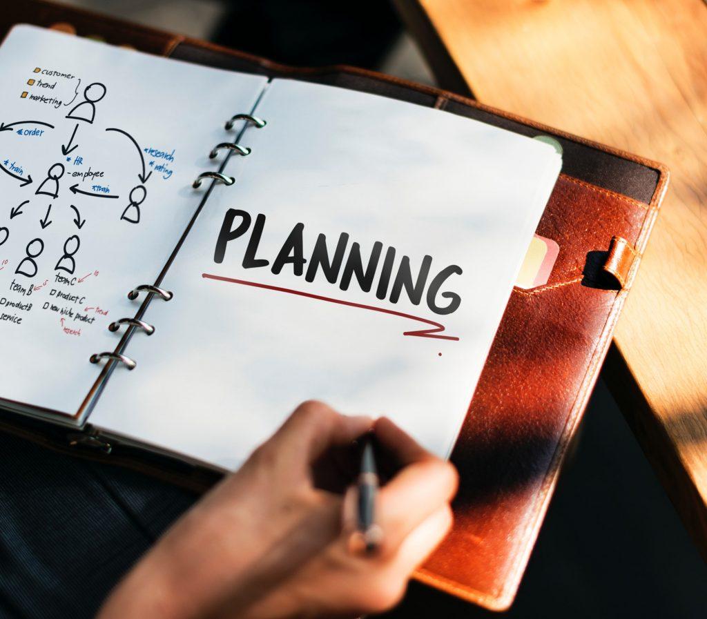 la pianificazione di una strategia aziendale con schemi